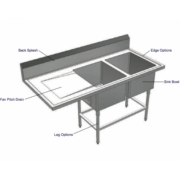 Stainless Cabinetry - Scullery Sink - Cantilever