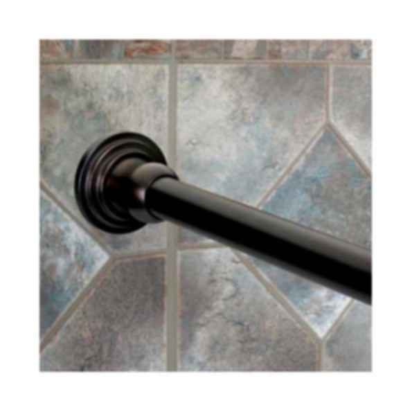 "Solid Brass 72"" Oil Rubbed Bronze 1"" Diameter Shower Curtain Rod And Mounint Brackets"