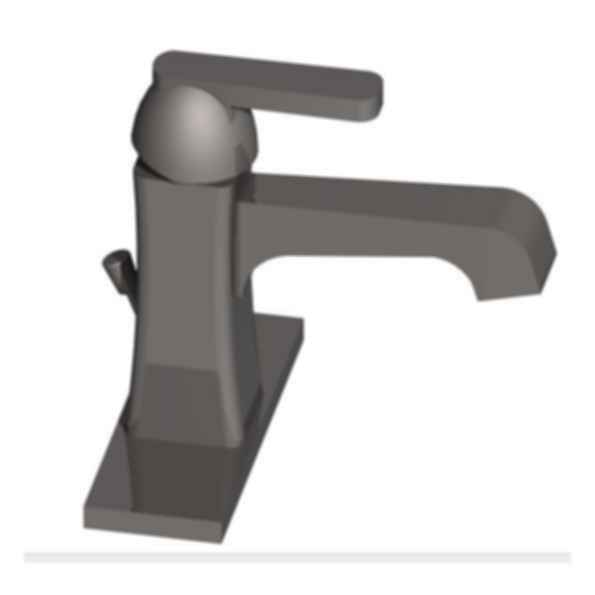 Ashlyn Handle Centerset Lavatory Faucet included Metal pop-up optional and base - Stainless