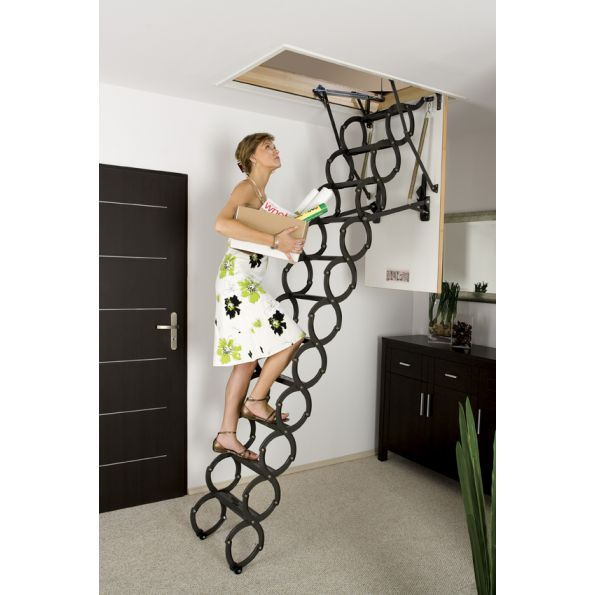 Delightful Attic Ladder Scissor Insulated FAKRO