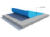 Ecotak recycled EVA, waterproofing system