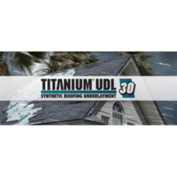 Titanium UDL-30 Synthetic Roofing Underlayment
