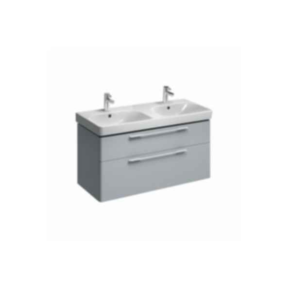 E500 Square Double Washbasin 1200x480 2 Tap