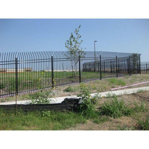 Montage commercial steel fence modlar