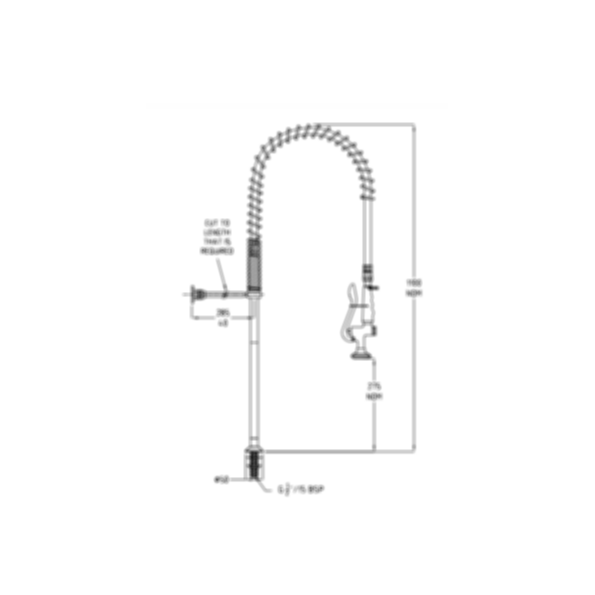 TF80H-S Ezy-Wash Pre Rinse Food Service Tap by Galvin Engineering