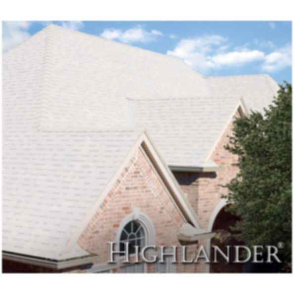 "Highlander® Roofs ""Dove White"" - Solar Reflective Shingles"