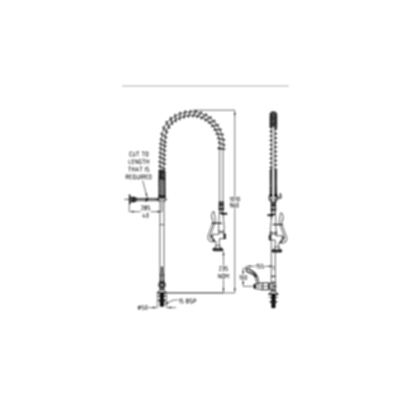 TF80HJS Ezy-Wash Pre Rinse Food Service Tap by Galvin Engineering