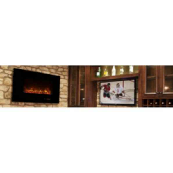 "Electric Fireplaces Wall Mount AL Series 43"" Ambiance"
