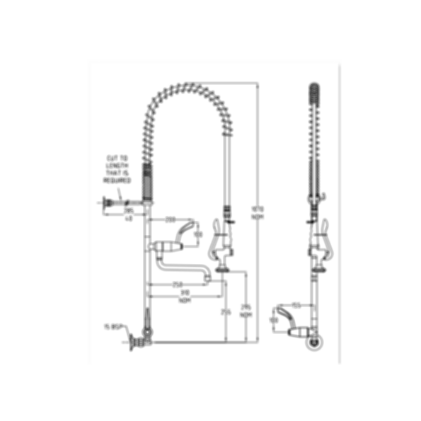 TF81WJP Ezy-Wash Pre Rinse Food Service Tap by Galvin Engineering