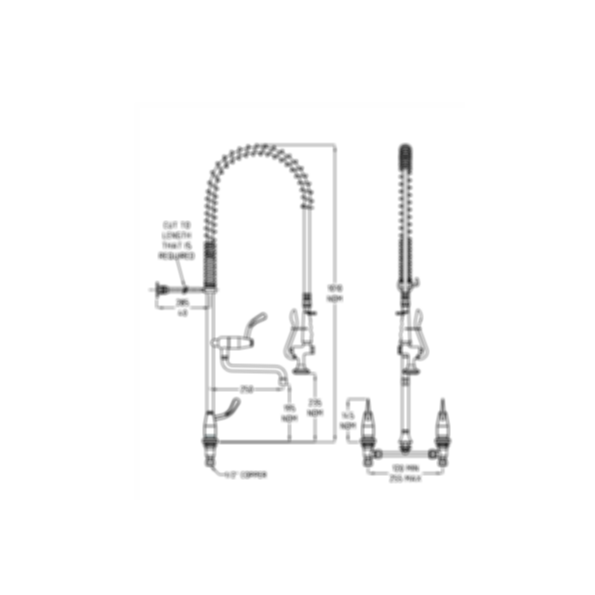 TF82HJP Ezy-Wash Pre Rinse Food Service Tap by Galvin Engineering