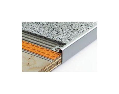 schluter rondec step tile surface finish. Black Bedroom Furniture Sets. Home Design Ideas