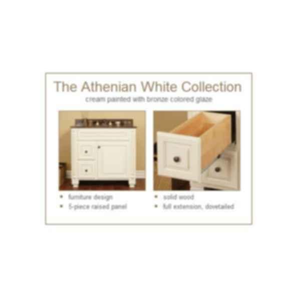 Athenian White Bathroom Cabinet