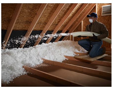 Climate pro blow in fiber glass insulation for Fiberglass blowing wool insulation