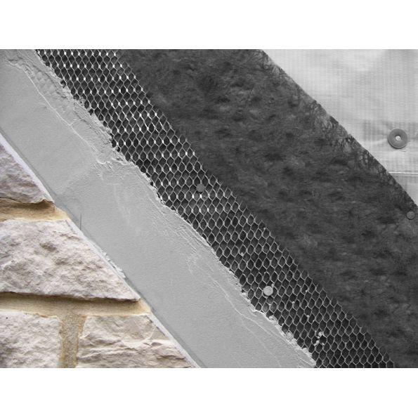 Exterior Wall Drainage : Driwall™ rainscreen commercial exterior wall