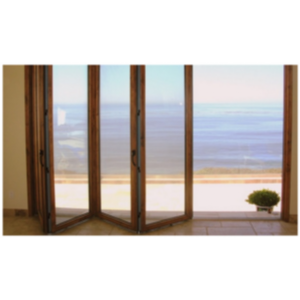 The S.74 Aluminum/Wood Clad Folding Door