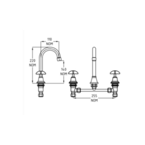 Vandal Resistant DPW Basin Set by Galvin Engineering