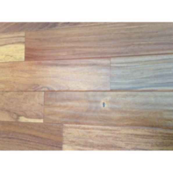 "Brazilian Teak (Cumaru) 5"" Hand-Scraped Solid Natural Wood Flooring - S1301F"
