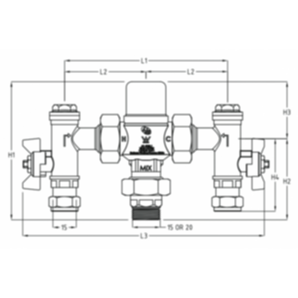 CliniMix Thermostatic Mixing Valve by Galvin Engineering
