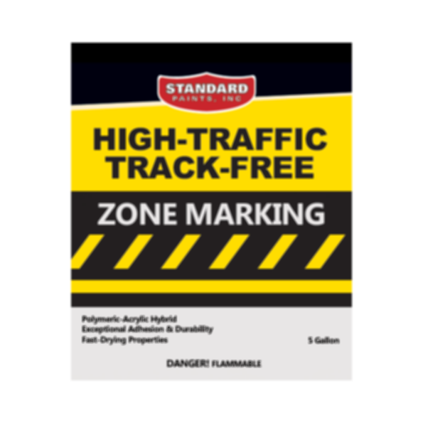 High-Traffic Track-Free Zone Marking for Parking Lots