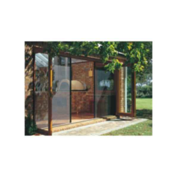 Fold-a-way patio doors