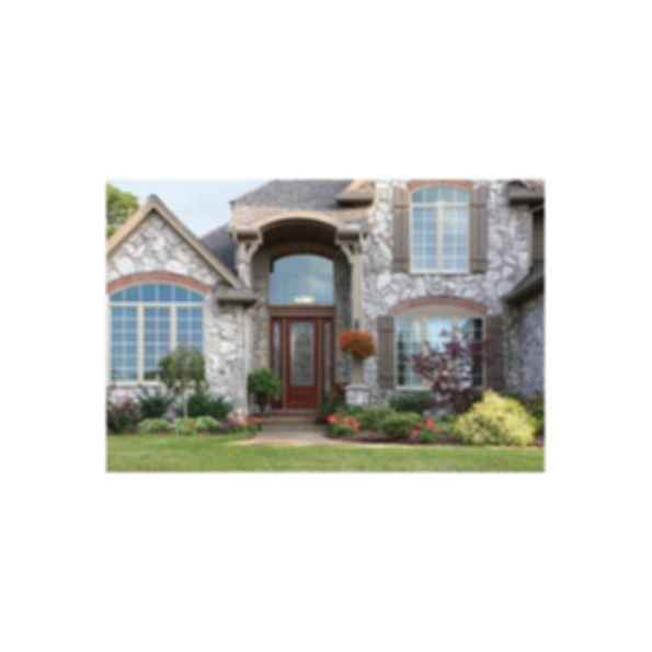 Fiberglass Entry Door Systems - Classic Craft Mahogany