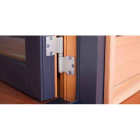 Aluminum Wood Swing Door