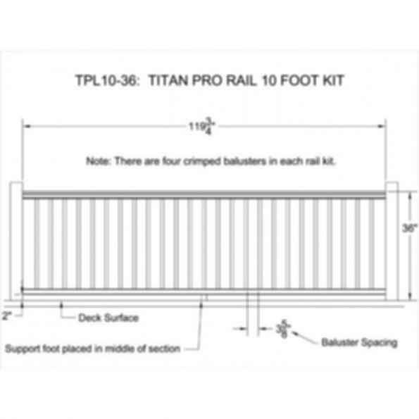 73018156 Titan Pro Railing