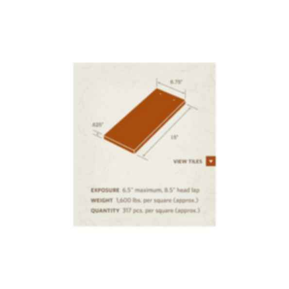 Cambridge Shingle 10000 series Tile