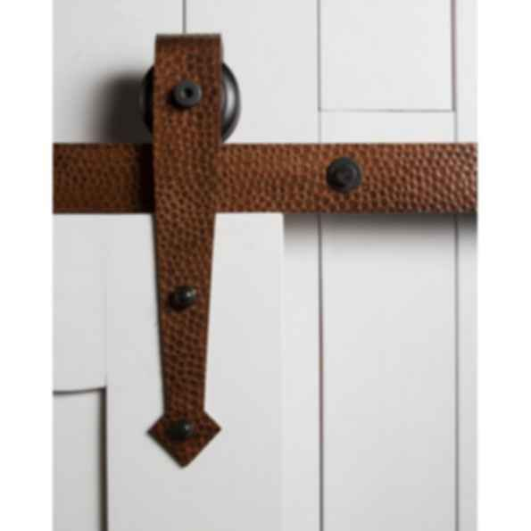 Hammered Arrow Barn Door Hardware
