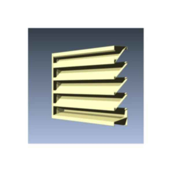 Fixed Formed Drainable Louvers
