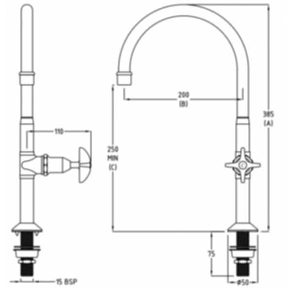 CP Lab Set 1-Way Type Fixed Jumper Valve by Galvin Engineering