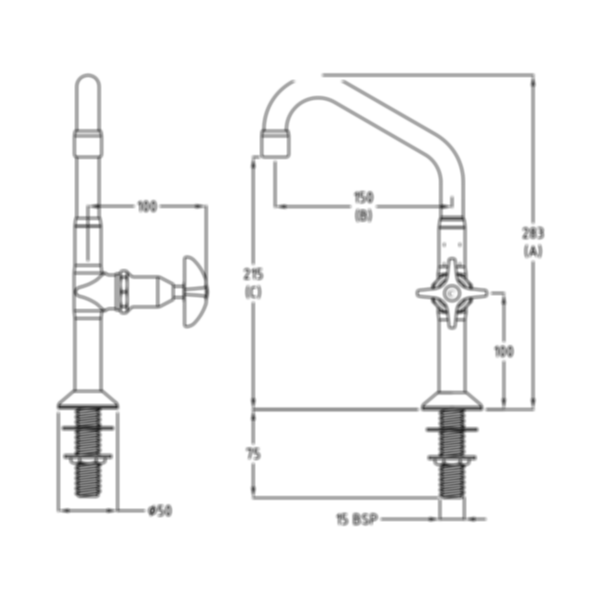CP Lab Set 1-Way Swivel Jumper Valve by Galvin Engineering