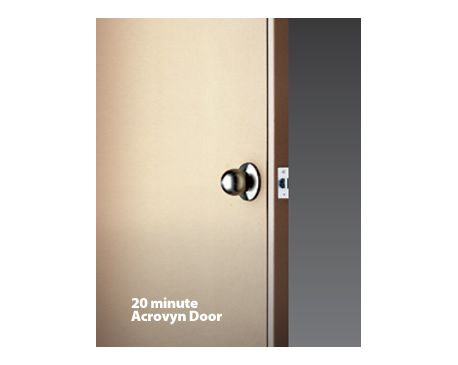 c s acrovyn doors 20 minute rating. Black Bedroom Furniture Sets. Home Design Ideas