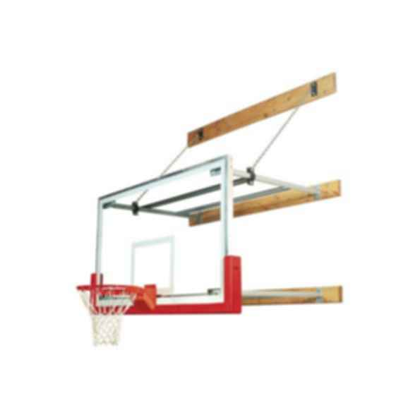 Telescoping Wall Mounted Basketball Backstops