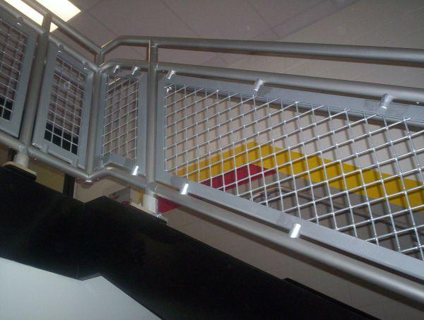 Aluminum woven wire mesh infill panels modlar