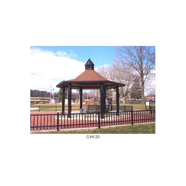 Ironwood Six Sided Hip Roof Gazebo - modlar com