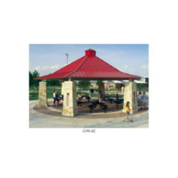 Ironwood Six Sided Hip Roof Gazebo