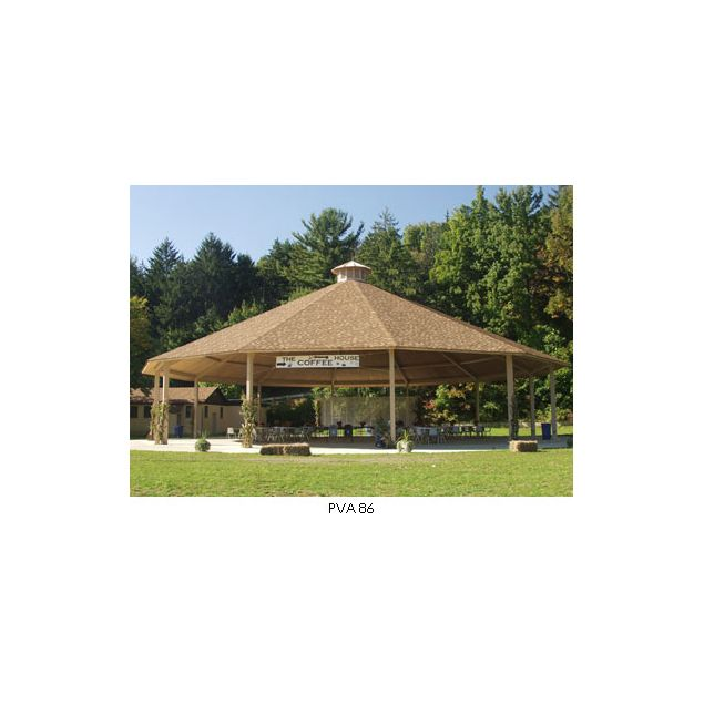 How is this Twelve-sided Hip Roof Pavilion constructed? - modlar com