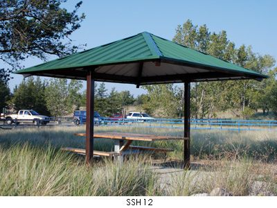 Hip Roof Square Sun Shelter - modlar com